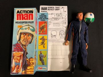 ACTION BOXED VINTAGE HELICOPTER PILOT with EAGLE EYES - BOXED (Side-flap box) ref 2